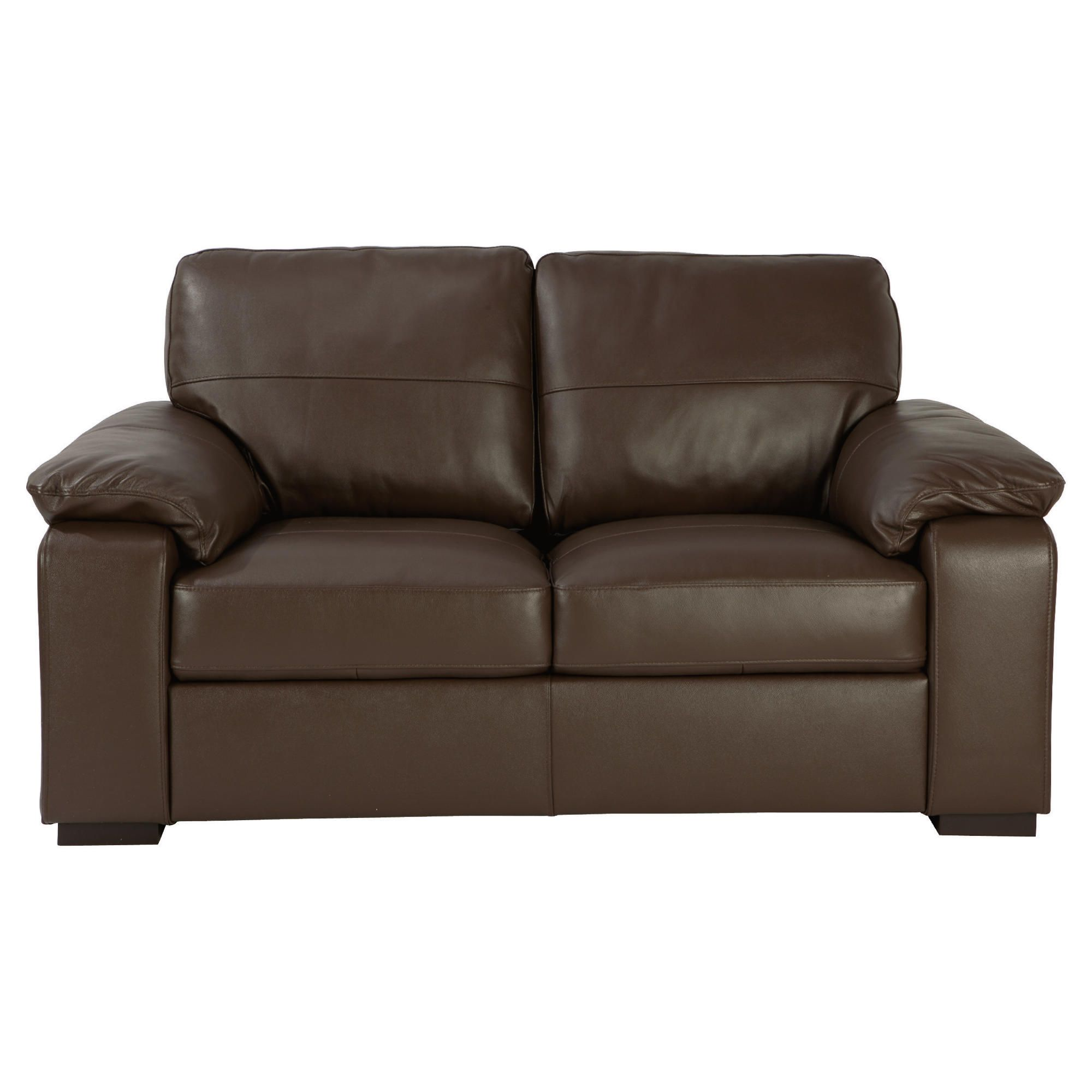 Ashmore Small Leather Sofa, Brown at Tesco Direct