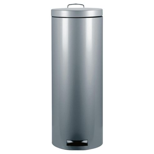 Brabantia 30L Metallic Grey Pedal Kitchen Bin