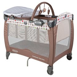 Graco Contour Electra Travel Cot, Apple
