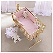 Clair de Lune Starburst 2pc Rocking Crib Set, Pink