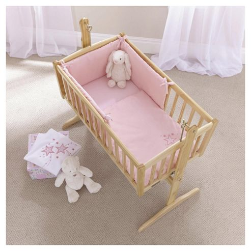 Clair de Lune Starburst crib set, Pink