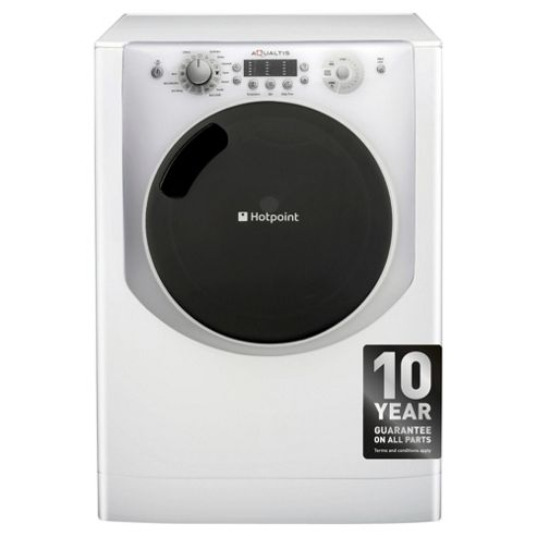 Hotpoint Aqualtis AQ113L297I Washing Machine, 11Kg Wash Load, 1200 RPM Spin, A++ Energy Rating, White Ice
