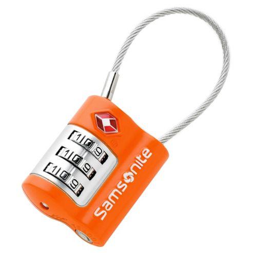 Samsonite TSA Combination Cable Lock, Orange