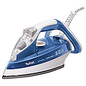 Tefal FV4480 vertical steam feature Iron with Ceramic Plate - White/Blue