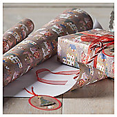 Cross Stitch Town, Christmas Wrapping Paper, 3m
