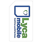 Lycamobile Pay as you go SIM Card
