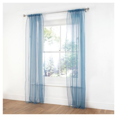 Voile Channel Top Curtains W137xL229cm (54x90