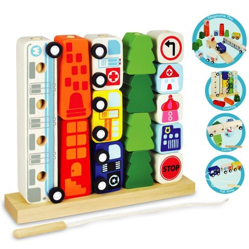I'm Toy Sort & Count City, wooden toy