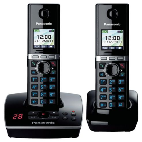 Panasonic KX-TG8062EB Twin Cordless Phone - Black