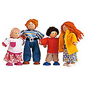 Plan Toys Modern Doll Family Wooden Toy Set