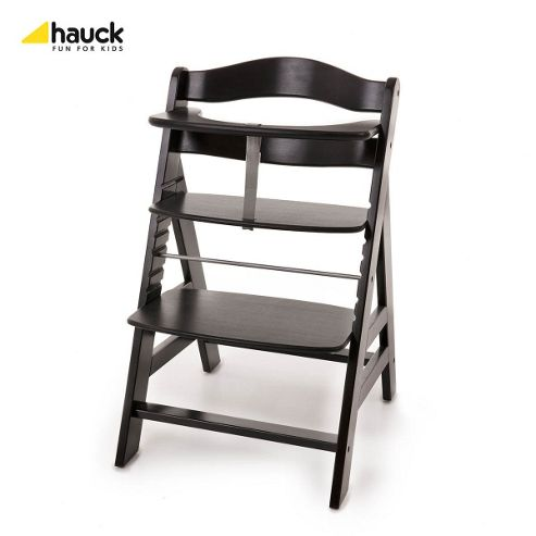 Hauck Alpha Wooden Highchair - Blackwashed