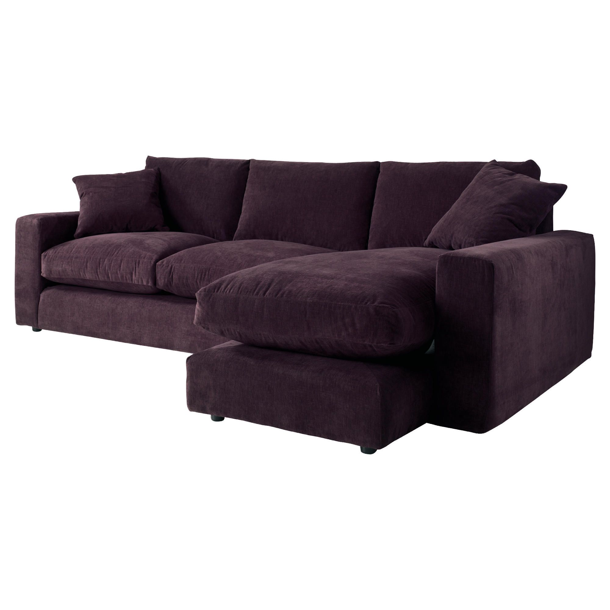 Valentino Right Hand Facingchaise Sofa, Plum at Tescos Direct