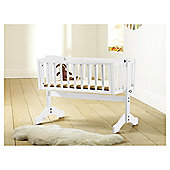 Saplings Bethany Crib with Mattress, White