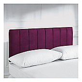 Seetall Haddon Headboard Aubergine Faux Suede Single