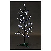 Twig tree with LED lights, white