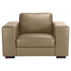 Antonio Leather Chair Taupe