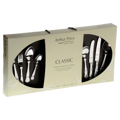 Arthur Price Classic Kings 44 piece, 6 Person Boxed Cutlery Set