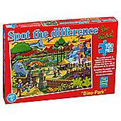 Spot The Difference for kids Dinosaur Park 100 pice puzzle