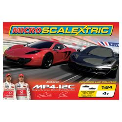 Micro Scalextric Mclaren Mp4 12C 1:64 Scale Race Set