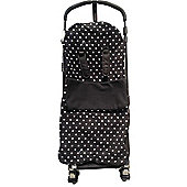 Snuggle Buggy footmuff Fit Buggy Puschair Baby Polka Dot Black