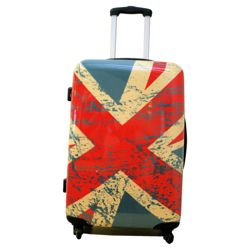 Union Jack 4-Wheel Hard Shell Suitcase, Medium