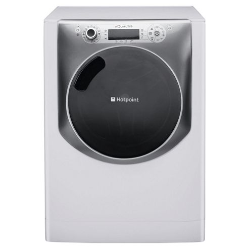 Hotpoint Aqualtis AQ113L297E Washing Machine, 11Kg Wash Load, 1200 RPM Spin, A+++ Energy Rating, White Titanium