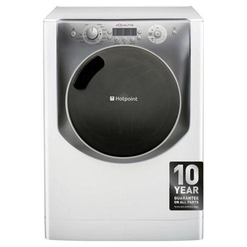 Hotpoint Aqualtis AQ113L297EUK Washing Machine, 11Kg Wash Load, 1200 RPM Spin, A+++ Energy Rating, White Titanium