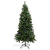 Tesco Noble Pre-Lit Christmass Tree With Multi-Coloured LED Lights, 7ft