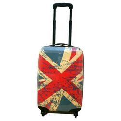 Union Jack 4-Wheel Hard Shell Suitcase, Small