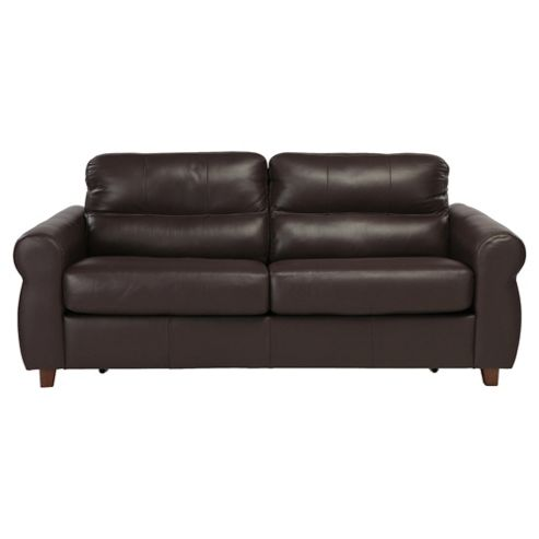 Fabio Leather Sofabed Brown