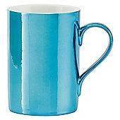 Tesco Metallic Set of 4 Mugs, Blue