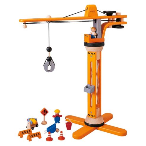 Plan Toys Crane Set Wooden Toy