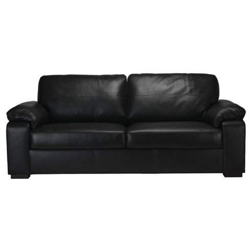 Ashmore Large Leather Sofa, Black