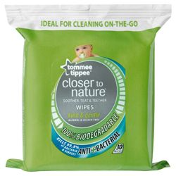 Tommee Tippee Closer to Nature Teat, Teether & Soother Wipes x30