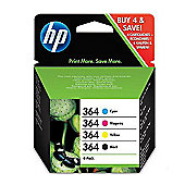 HP 364 Printer Ink Cartridge - Multipack (Black and Colour-SD534EE)