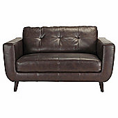Lorenzo Leather Small Sofa Chocolate