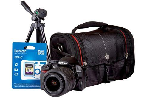 Nikon D3100 SLR Bundle Kit with 18-55mm Lens, Tripod, SLR Case, 8GB SD Card