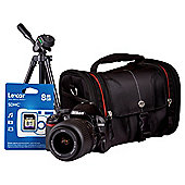 Nikon D3100 SLR Bundle Kit with 18-55mm Lens + Desktop Tripod + SLR Case + 8GB SD Card