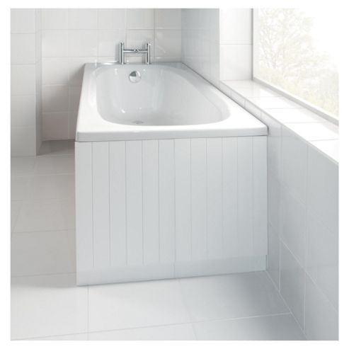 Bathsmart Tongue and Groove White Refresh Bath End Panel