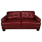 Utah Large Leather Sofa, Red