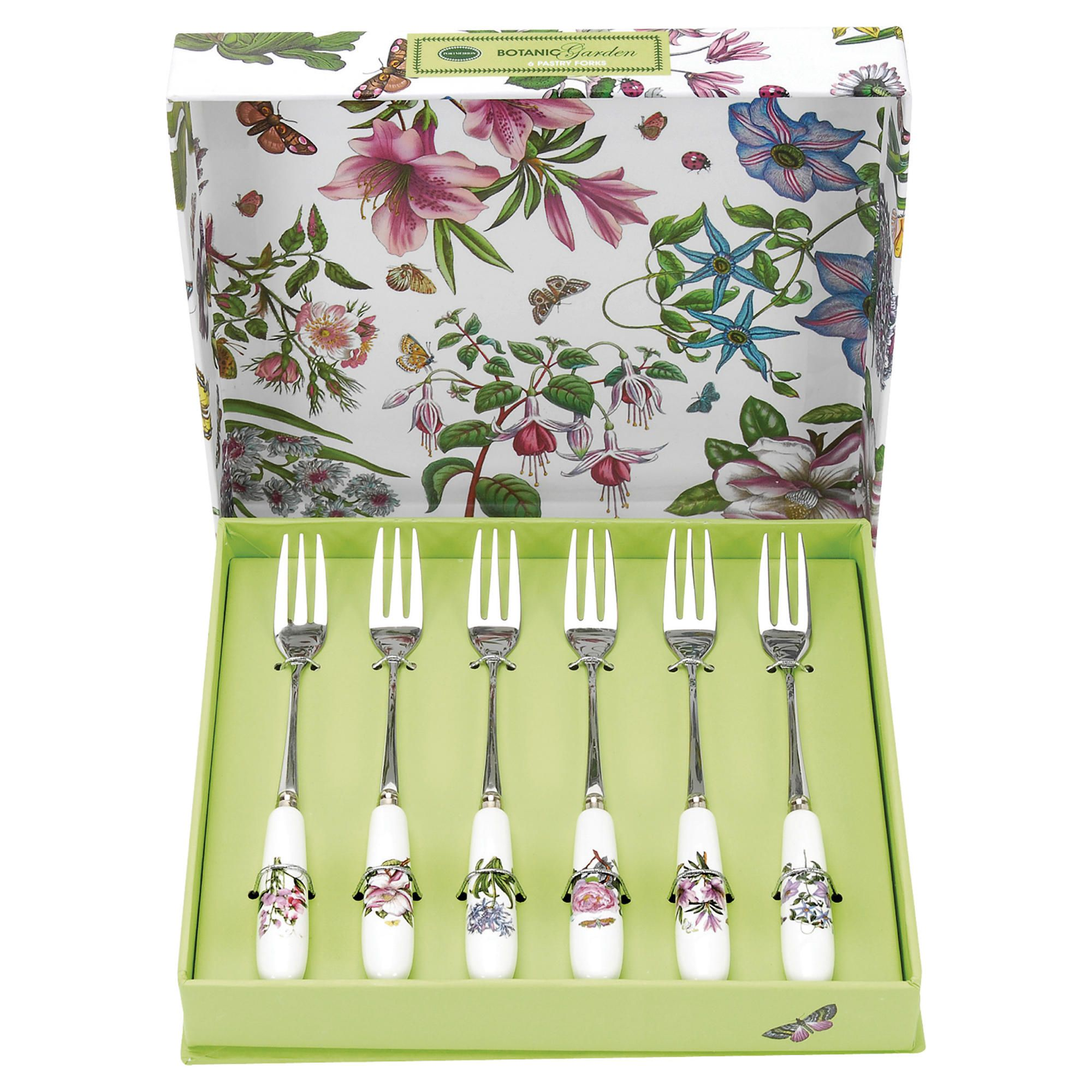 Portmeirion Botanic Garden Set of 6 Pastry Forks