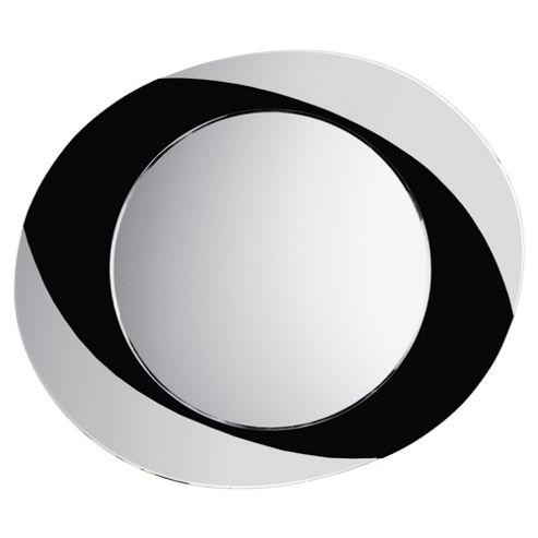 Oval Mirror with Colour
