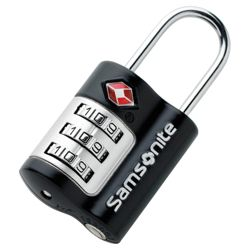 Samsonite TSA Combination Lock, Black