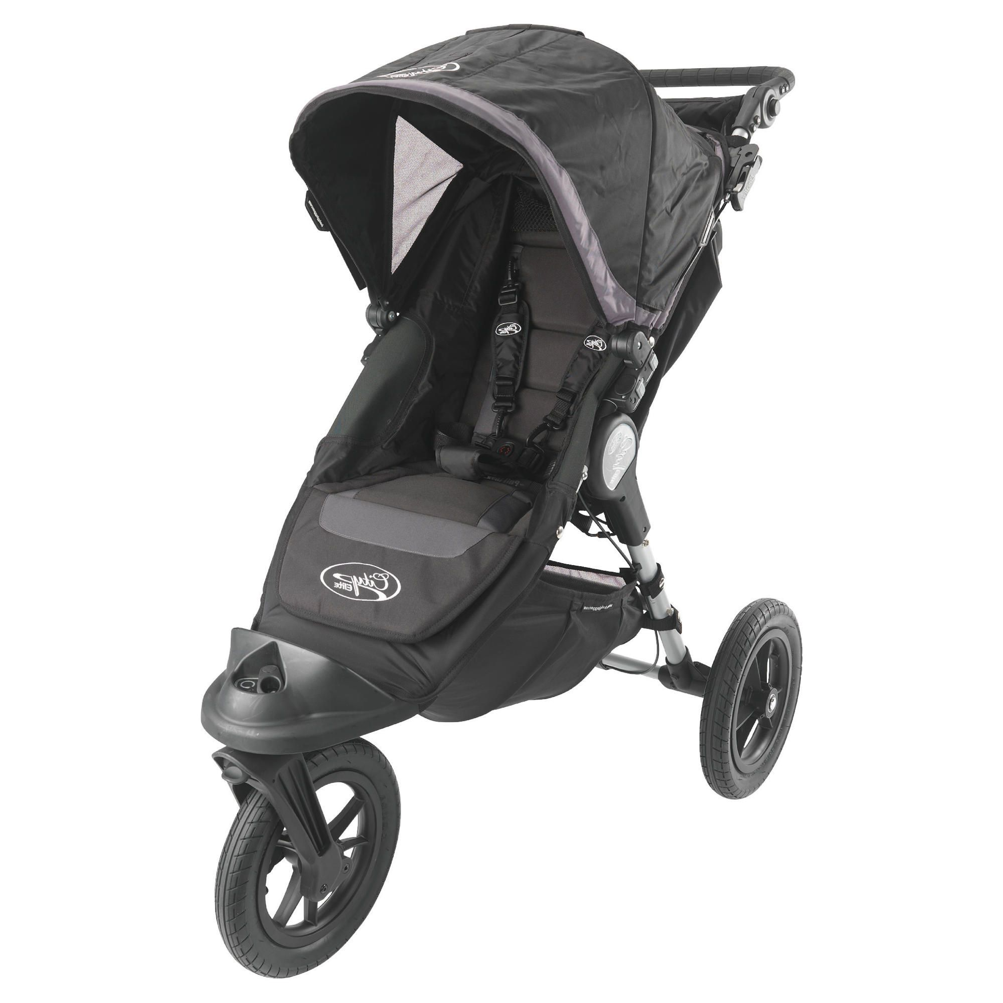 Baby Jogger Elite 3 Wheeler Pushchair, Black Sport at Tesco Direct