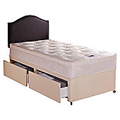 Airsprung Danbury Deep Ortho Cushion Top Single 2 Drawer Divan Bed