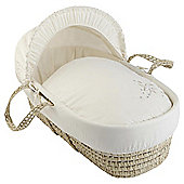 Clair de lune Starburst Moses Basket, Cream