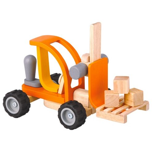 Plan Toys Forklift & Driver Wooden Toy