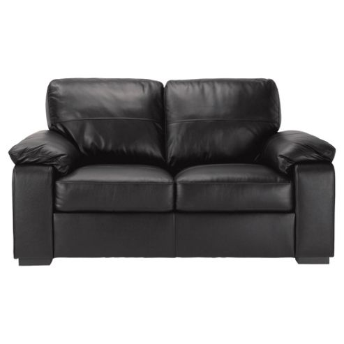 Ashmore Small Leather Sofa, Black