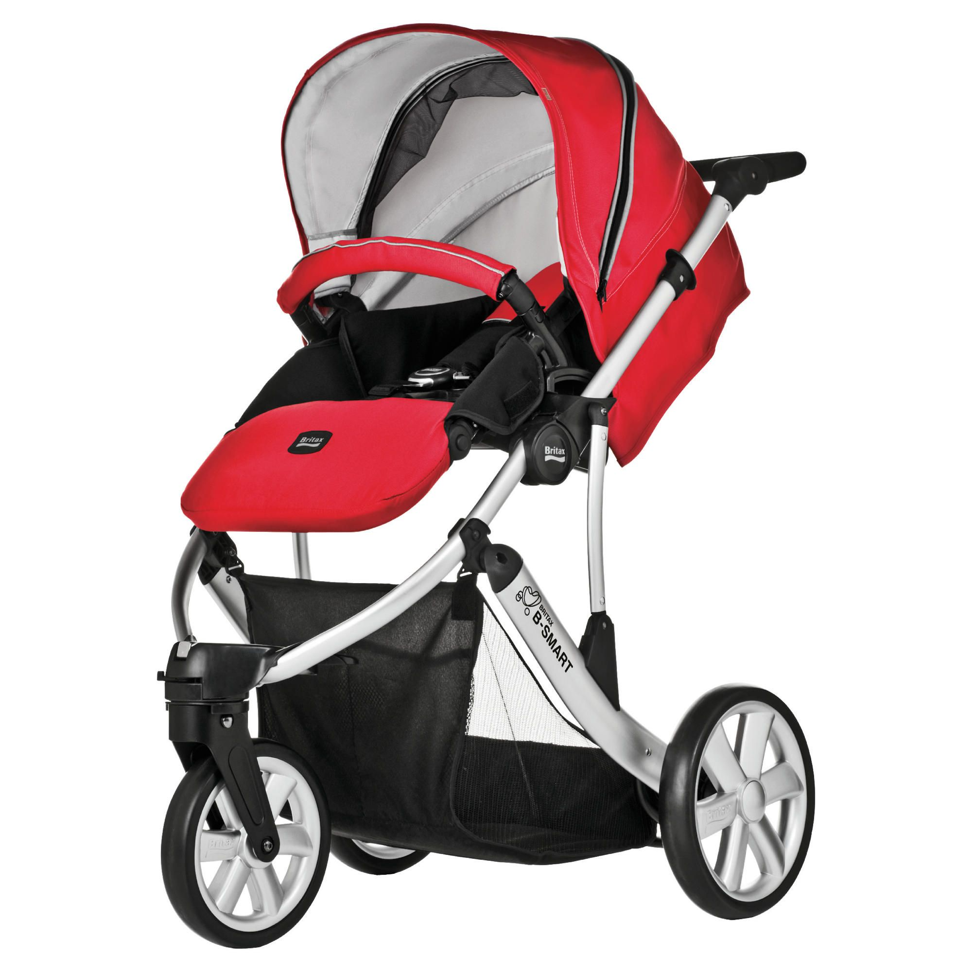 Britax B Smart 3 Wheeler Pushchair, Venetian Red at Tesco Direct