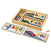 Melissa & Doug Wooden See & Spell Educational Game